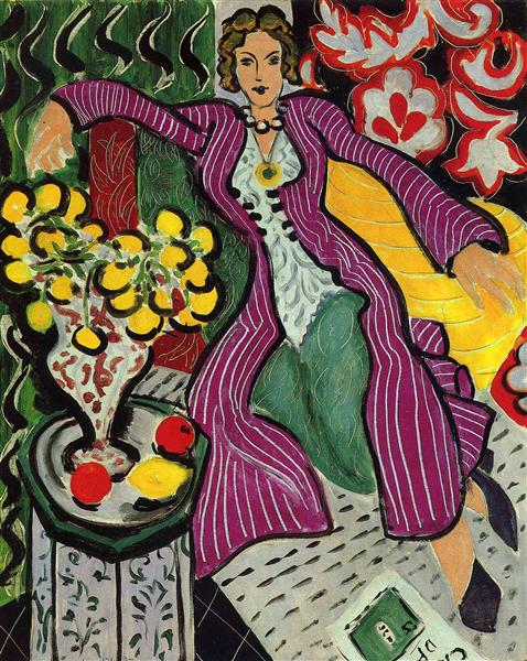Woman in a Purple Coat, 1937 - Henri Matisse