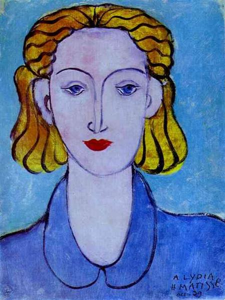 Young Woman in a Blue Blouse (Portrait of L.N. Delektorskaya), 1939 - Henri Matisse
