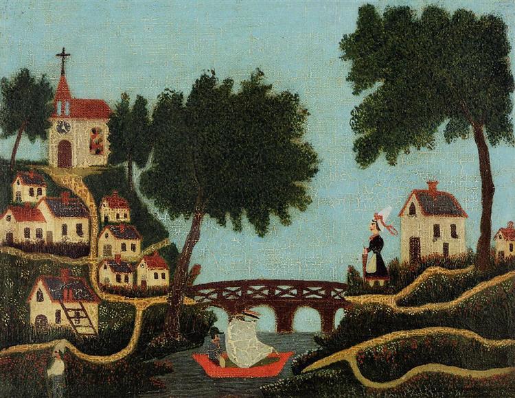 Landscape with Bridge, 1875 - 1877 - Henri Rousseau