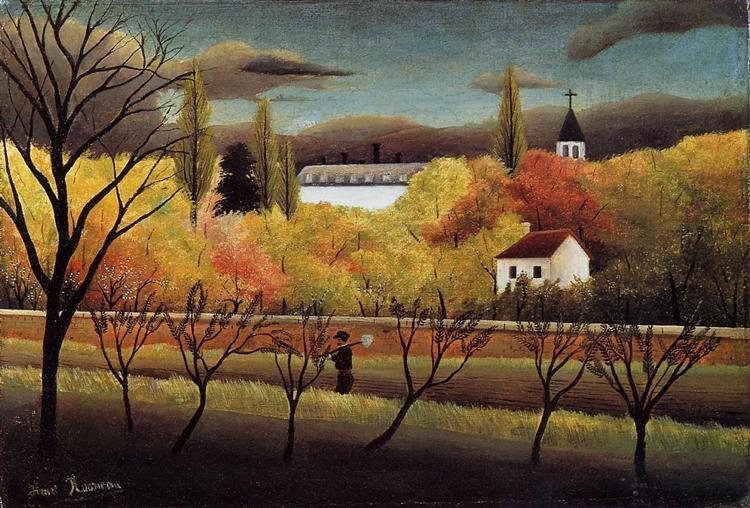 Landscape with Farmer, 1896 - Henri Rousseau