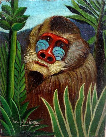 Mandrill in the Jungle, 1909 - Henri Rousseau