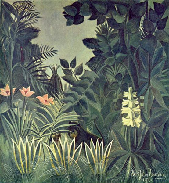 The Equatorial Jungle, 1909 - Henri Rousseau