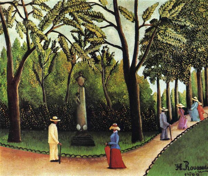 The Monument to Chopin in the Luxembourg Gardens, 1909 - Henri Rousseau