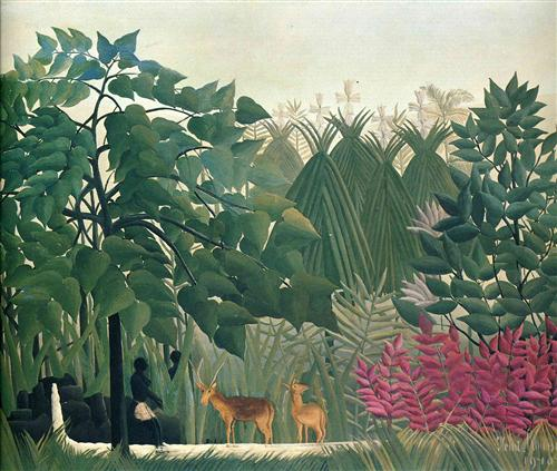 The Waterfall - Henri Rousseau