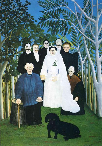 The wedding party, c.1905 - Henri Rousseau