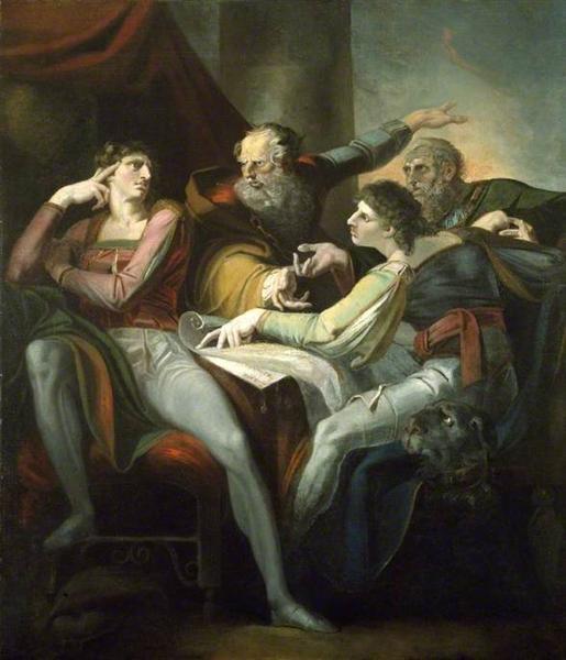 Dispute between Hotspur, Glendower, Mortimer and Worcester, 1784 - Johann Heinrich Füssli