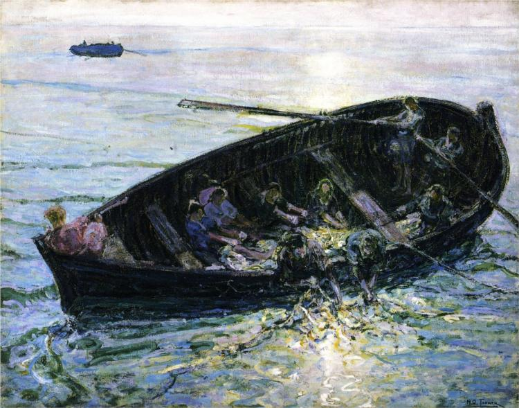 Miraculous Haul of Fishes, 1914 - Henry Ossawa Tanner