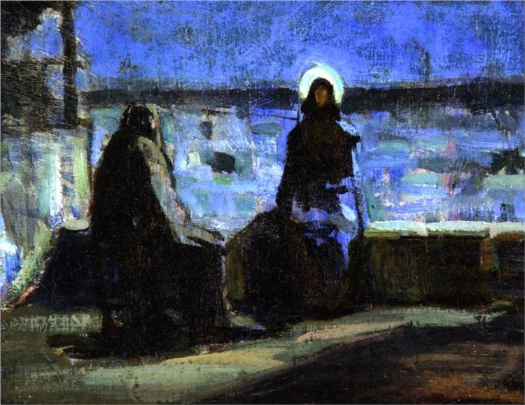 Study for Nicodemus Visiting Jesus, 1899 - Henry Ossawa Tanner