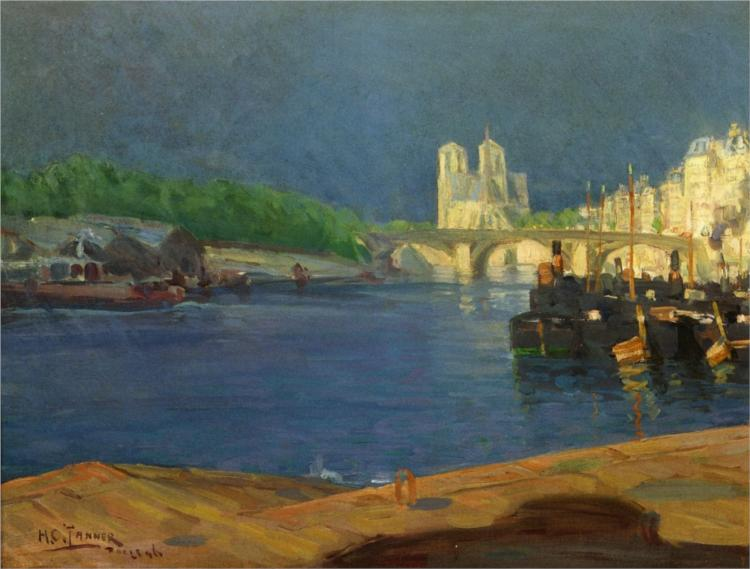 View of the Seine Looking toward Notre Dame, 1896 - Henry Ossawa Tanner