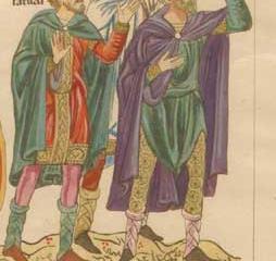 The three Magi (Balthasar, Caspar, Melchior) - Herrad of Landsberg
