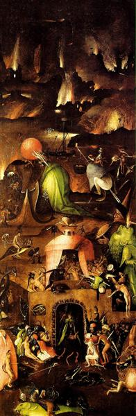 Last Judgment,  right wing, 1504 - 1508 - Hieronymus Bosch