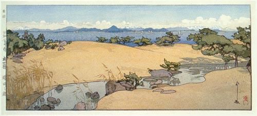 A Garden by Biwa Lake, 1933 - Hiroshi Yoshida