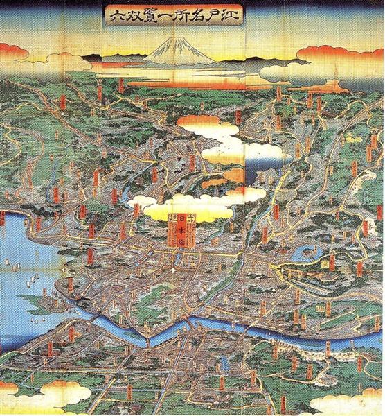 A vision of Shitamachi - Hiroshige