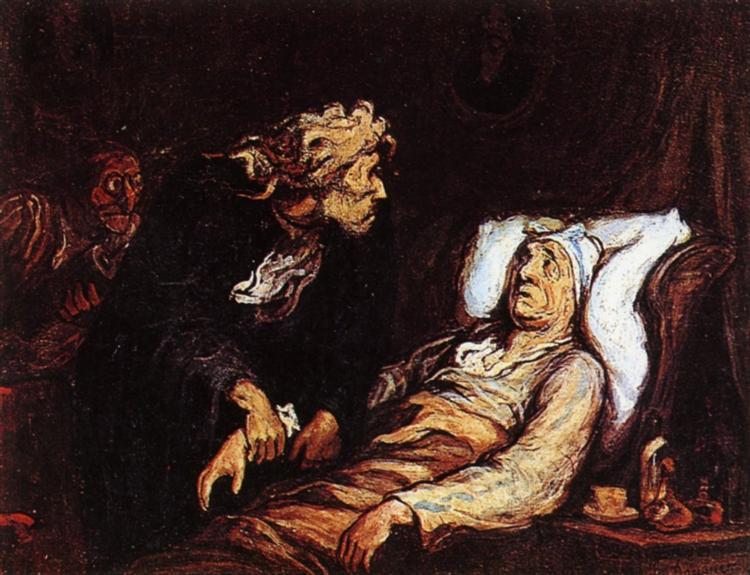 The Hypochondriac - Honoré Daumier