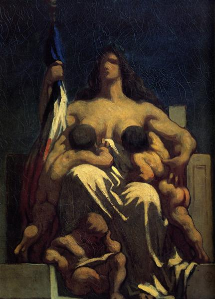 The Republic, 1848 - Honore Daumier