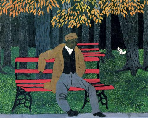 Man On A Bench, 1946 - Horace Pippin