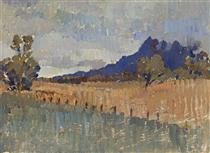 Northern Landccape (Flinders Ranges Landscape with Rain Approaching) - Horace Trenerry