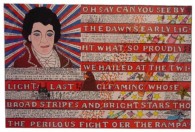 Flag, 1991 - Howard Finster