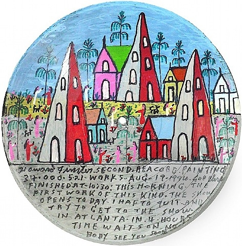 Second Record Painting, 1994 - Howard Finster