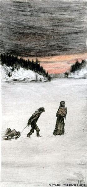 Homeward Bound, 1901 - Hugo Simberg