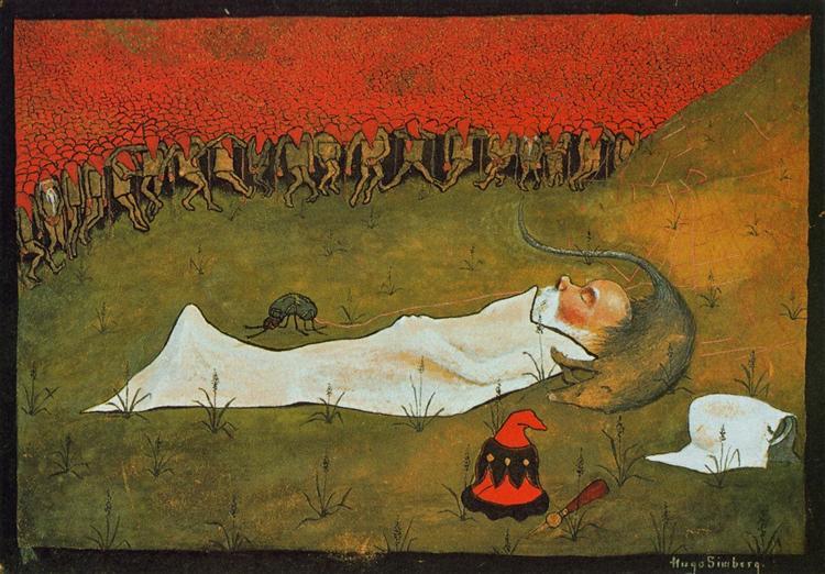 King Hobgoblin Sleeping, 1896 - Hugo Simberg
