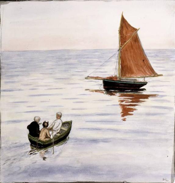Two passengers, 1901 - Hugo Simberg