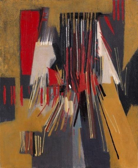 Composition abstraite, 1957 - Huguette Arthur Bertrand