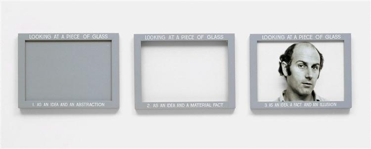 Looking at a piece of glass, 1968 - Ian Burn