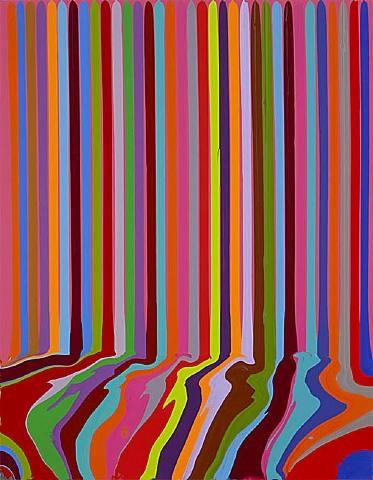 Puddle Painting: Magenta, 2008 - Ian Davenport