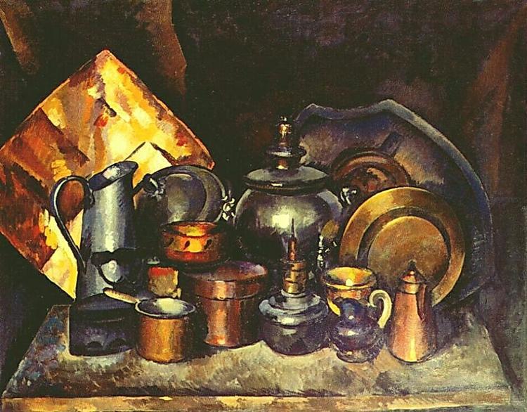 Натюрморт с самоваром, 1920 - Илья Машков