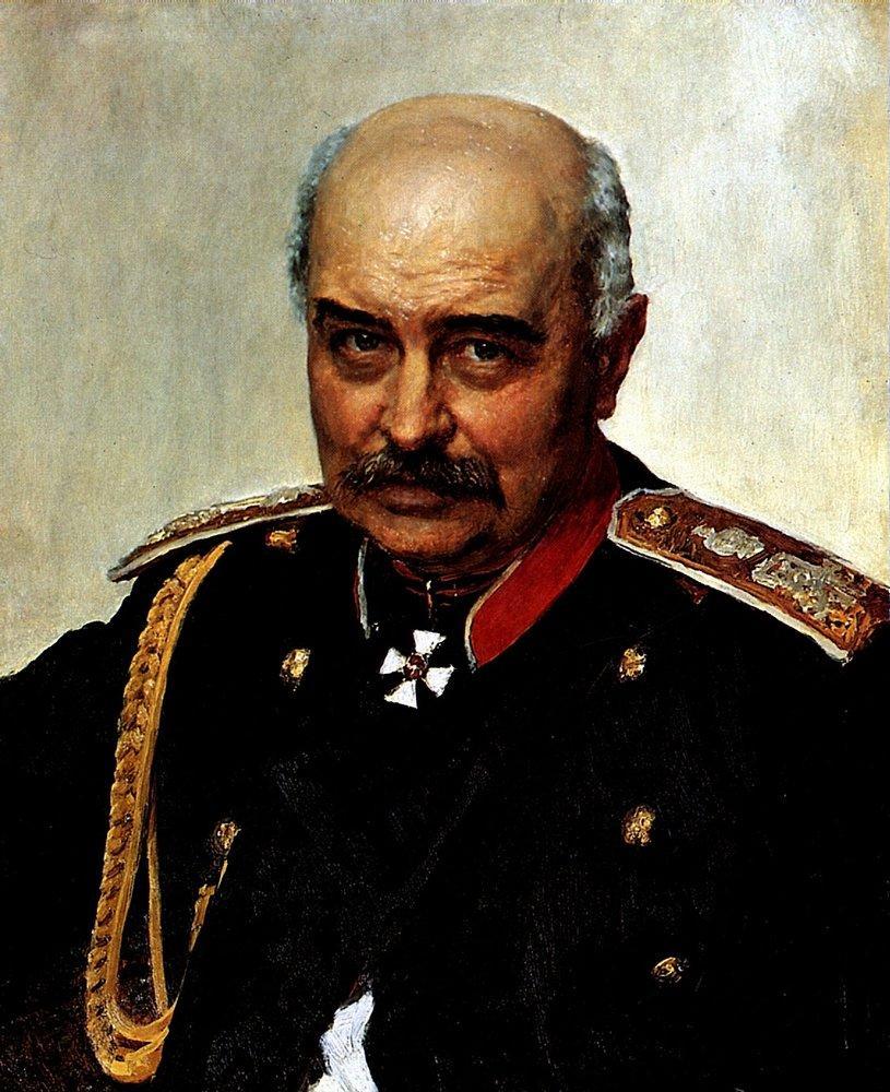 Portrait of general and statesman Mikhail Ivanovich Dragomirov, 1889