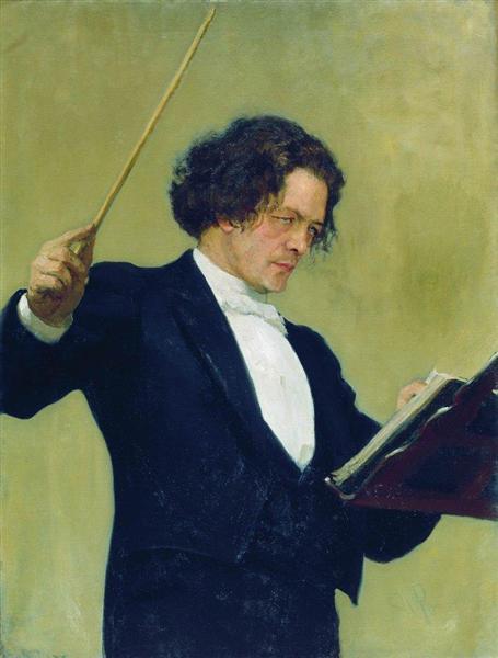 Portrait of the Composer Anton Rubinstein, 1887 - Ilya Repin