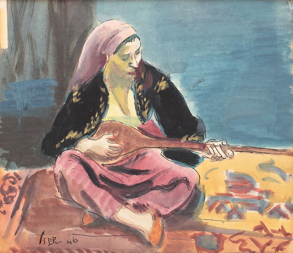 Tatar Woman With Mandoline, 1946