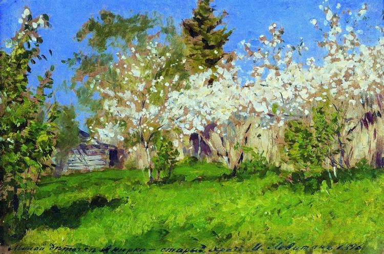 Apple trees in blossom, 1896 - Isaak Iljitsch Lewitan