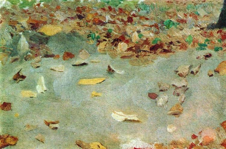 Autumn leaves, 1879 - Isaac Levitan