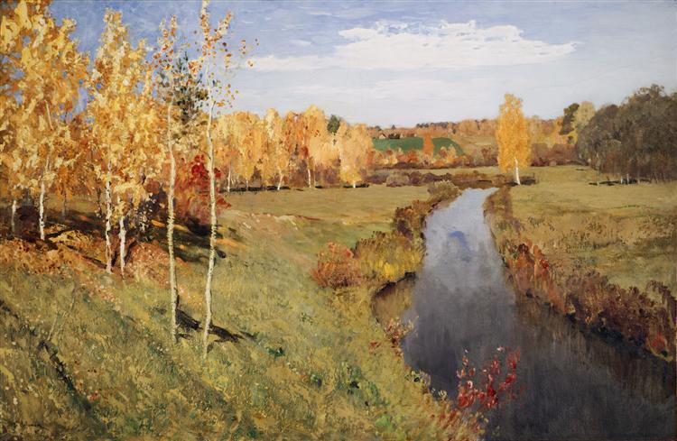 Golden Autumn, 1895 - Isaac Levitan