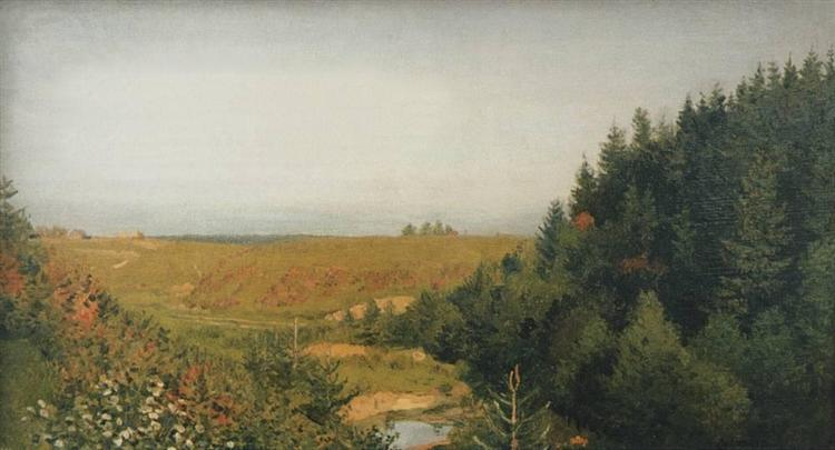 Landscape with forest river, c.1885 - Isaak Levitán
