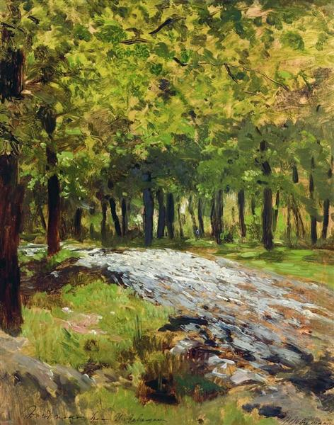 Path in the forest, c.1885 - Isaac Levitan
