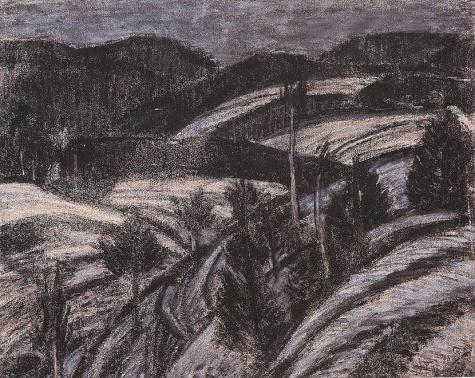 Winter landscape, 1927 - Istvan Nagy