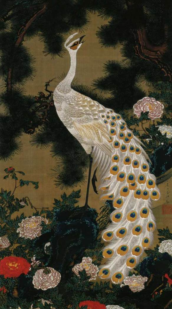 Old Pine Tree and Peacock, 1761
