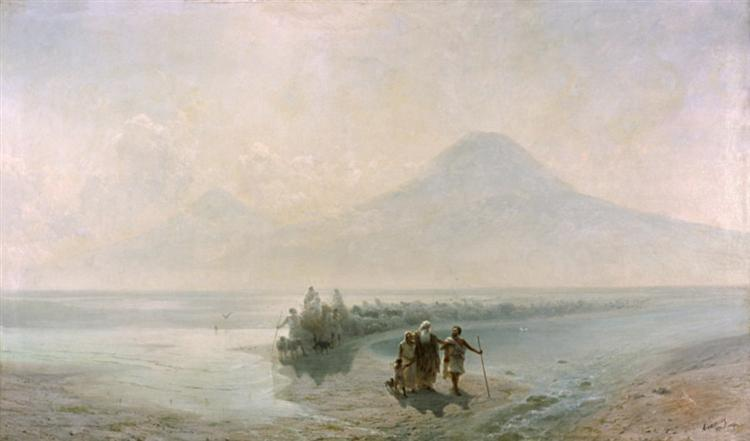 Dejection of Noah from mountain Ararat, 1889 - Ivan Aivazovsky