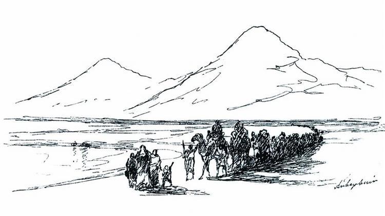 Dejection of Noah from mountain Ararat - Iván Aivazovski