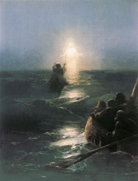 Jesus walks on water, 1888 - Ivan Aivazovsky