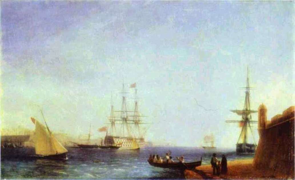 Malta Valetto Harbour, 1844