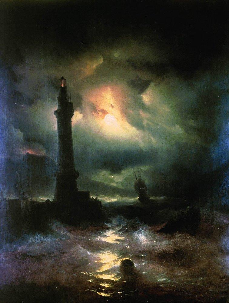 Neapolitan Lighthouse - Ivan Aivazovsky - WikiArt.org