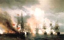 Battaglia marittima russo-turca di Sinop il 18 novembre 1853 - Ivan Aivazovsky