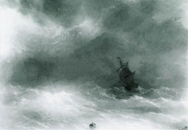 Strong wind, 1856 - Ivan Aivazovsky