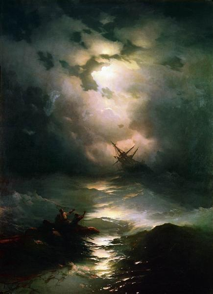 The Shipwreck on Northern sea, 1865 - Ivan Aivazovsky
