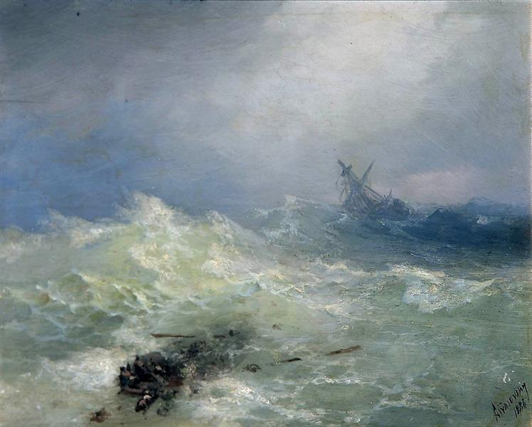The Tempest, 1886 - Ivan Aivazovsky