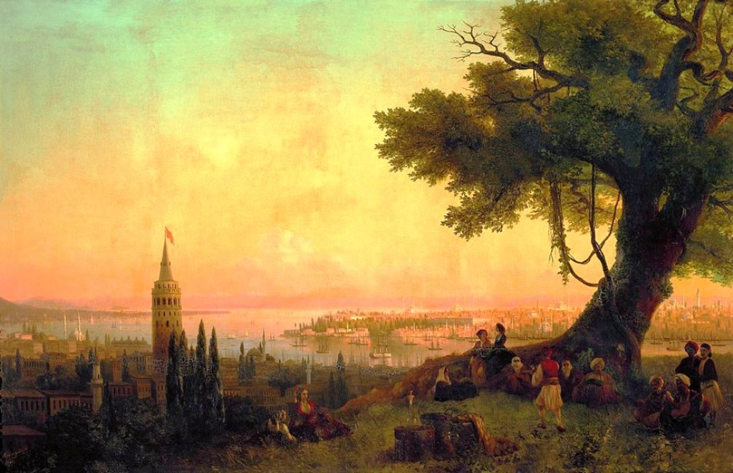 View of Constantinople by evening light, 1846